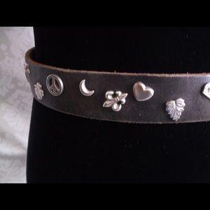 Accessories - Peace sign/Heart/Crown/Star Leather Belt